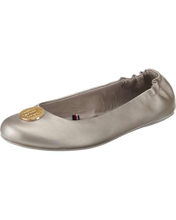 HILFIGER TOMMY PEARLIZED gold Klassische BALLERINA LEATHER Ballerinas A6qwC6