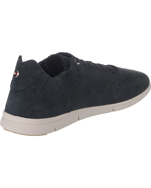 TOMMY HILFIGER, SNEAKER NUBUCK LIGHT WEIGHT SNEAKER HILFIGER, Sneakers Low, blau 94692f