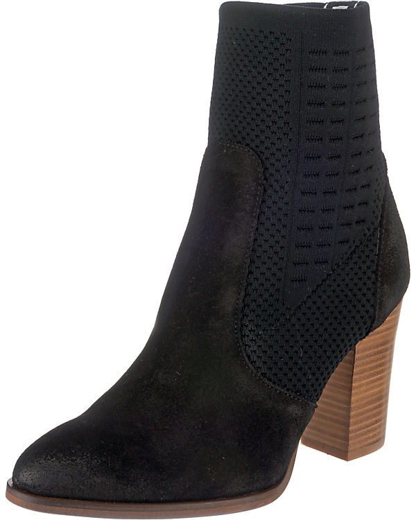 BOOT TOMMY Ankle TOMMY KNIT Boots schwarz HEELED HILFIGER ITnq6qwpS