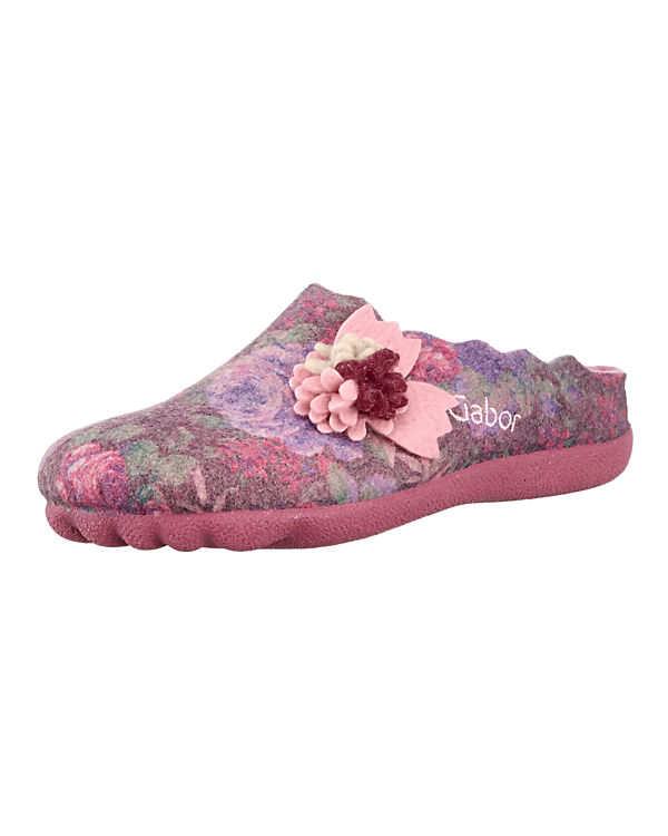 Gabor Pantoffeln rosa-kombi
