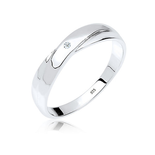 Diamore Ring Geschenkidee Diamant Verlobung 0.02 ct. 925 Silber