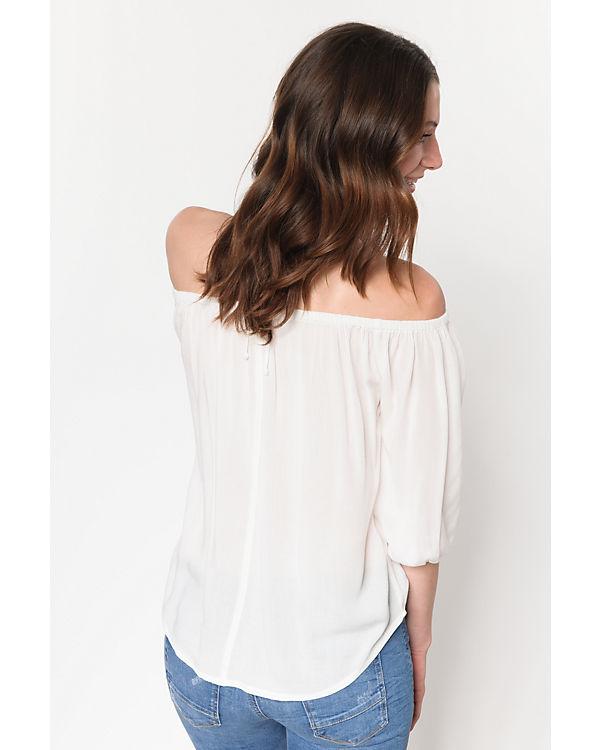weiß Shirt Shoulder weiß Off Shirt ONLY ONLY Off Shoulder Zrtfrq