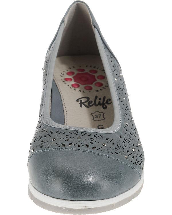 Relife Relife Klassische blau Klassische Ballerinas BOpPqp