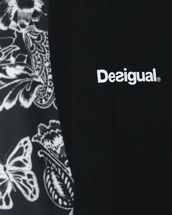 schwarz Desigual Sweatjacke Sweatjacke Desigual schwarz In8TwxqP47