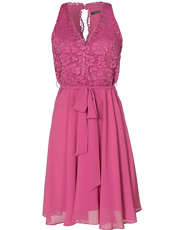 ESPRIT collection Spitzenkleid pink
