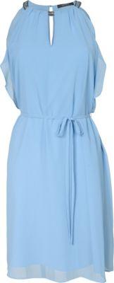 Kleid eng blau