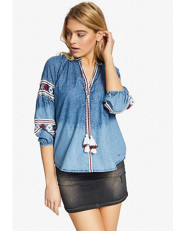 CAITLIN Bluse Bluse CAITLIN Khujo Khujo blau Khujo blau Bluse HqgPFP