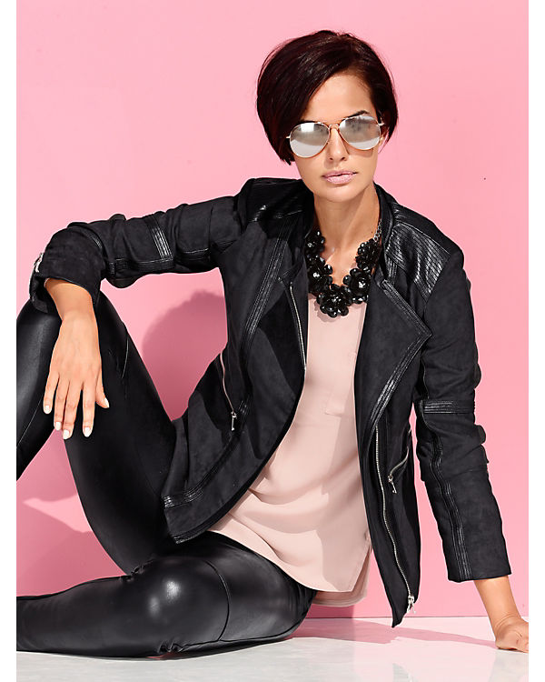Amy Vermont Kunstlederjacke schwarz Erhalten Zum Verkauf Große Auswahl An Zum Verkauf Offizieller Seite Billig Verkauf Finish EJL5fpag