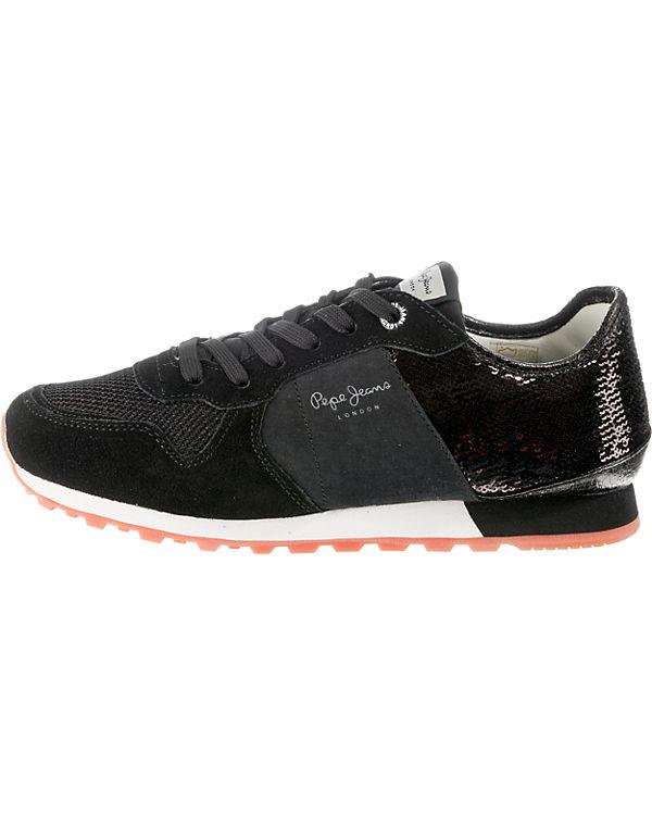 VERONA W 2 NEW Jeans Low SEQUINS Pepe schwarz Sneakers wqZpCx