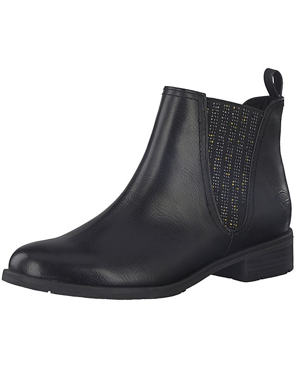 TOZZI MARCO TOZZI Chelsea Chelsea schwarz MARCO Boots Boots fnHBx6E