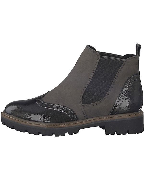 TOZZI MARCO Chelsea dunkelgrau Feel Boots TYYqdw