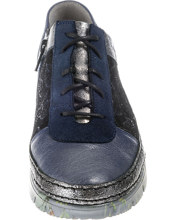 blau Schnürschuhe blau Schnürschuhe silber Maciejka Maciejka 40xUx1v