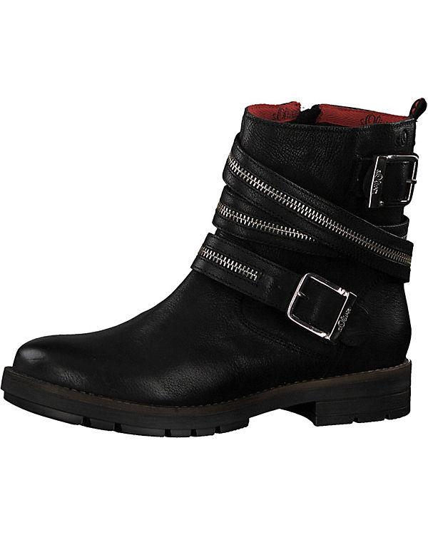s Oliver schwarz Biker Boots s Boots schwarz s s Biker Biker schwarz Oliver Oliver Boots 4SYqw4Bg
