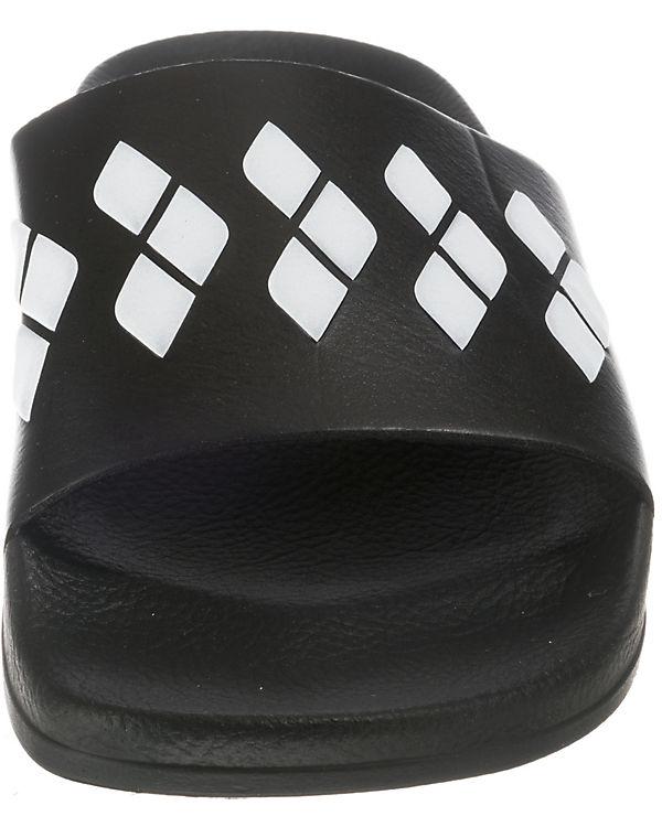 Stripe Team Badelatschen arena Slide weiß schwarz RAaanw5x