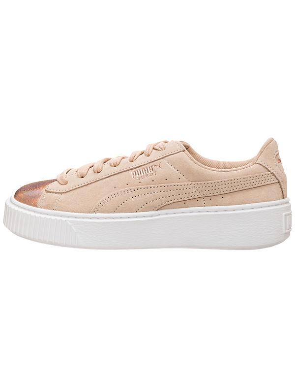 Suede PUMA Suede Platform Low Sneakers LunaLux Sneakers Low beige PUMA beige PUMA Platform LunaLux nwUxqrw8f4