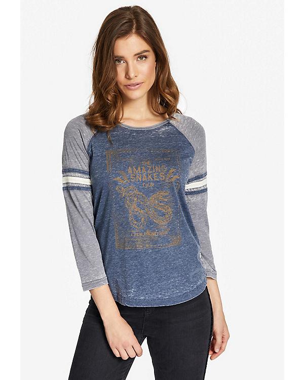 Khujo 3/4-Arm-Shirt blau Rabatte b5Lun