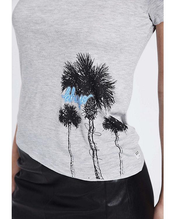 Freies Verschiffen Fabrikverkauf Khujo Shirt JOYCE PALMTREE PRINT grau Großhandel Online Spielraum Niedrige Versand Online lW5a6Cs