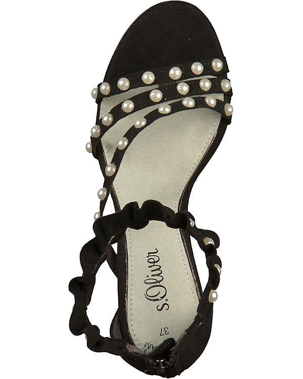 s.Oliver Shoes, Klassische Sandaletten, Sandaletten, Sandaletten, schwarz 702db3
