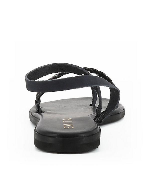 Klassische OLIMPIA Sandalen Shoes schwarz Evita gZH7wfqxW