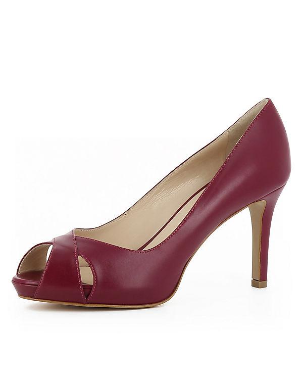 Evita Shoes ELISA Peeptoe-Pumps weinrot
