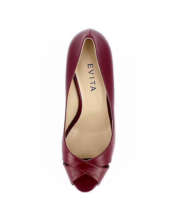 Pumps Evita weinrot ELISA Peeptoe Shoes SqxqTz