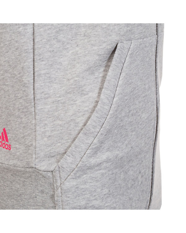 Kapuzenjacke Performance Linear Kapuzenjacke adidas Damen grau adidas Linear grau Essentials Damen Essentials Performance XUgw1fqq