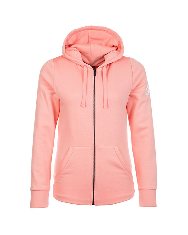 adidas Performance Essentials Solid Trainingskapuzenjacke Damen rosa