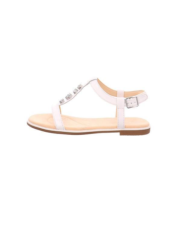 Clarks T-Steg-Sandalen weiß Authentischer Online-Verkauf 9xSO4E0CF