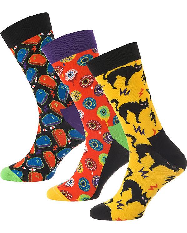 Happy Socks 3 Paar Socken Geschenkebox Halloween bunt