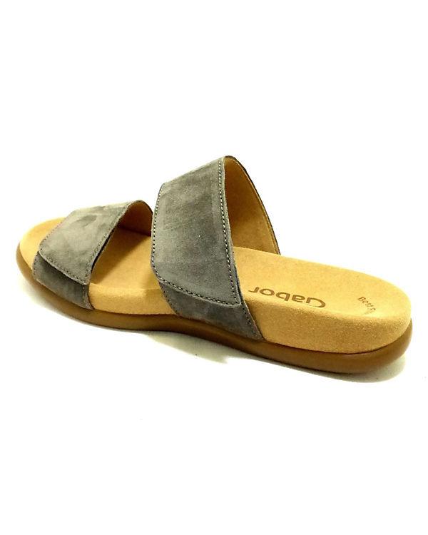 Pantoletten Komfort Gabor Gabor Komfort grau xwpU4Pq