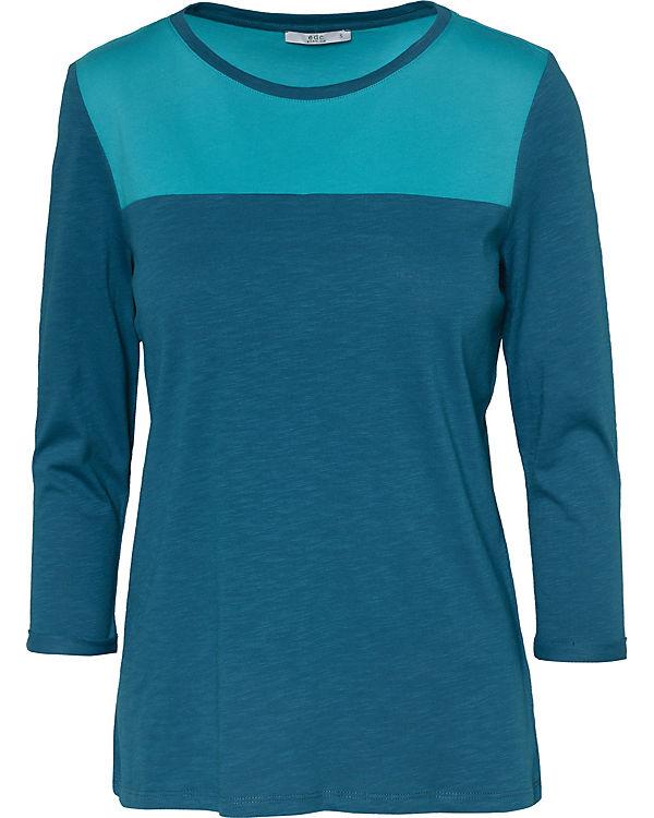 by Shirt 3 Arm edc ESPRIT 4 blau Fwnqwax