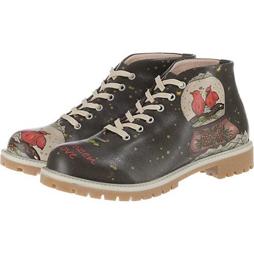 Dogo Shoes Frozen Love Desert Boots schwarz Dam...