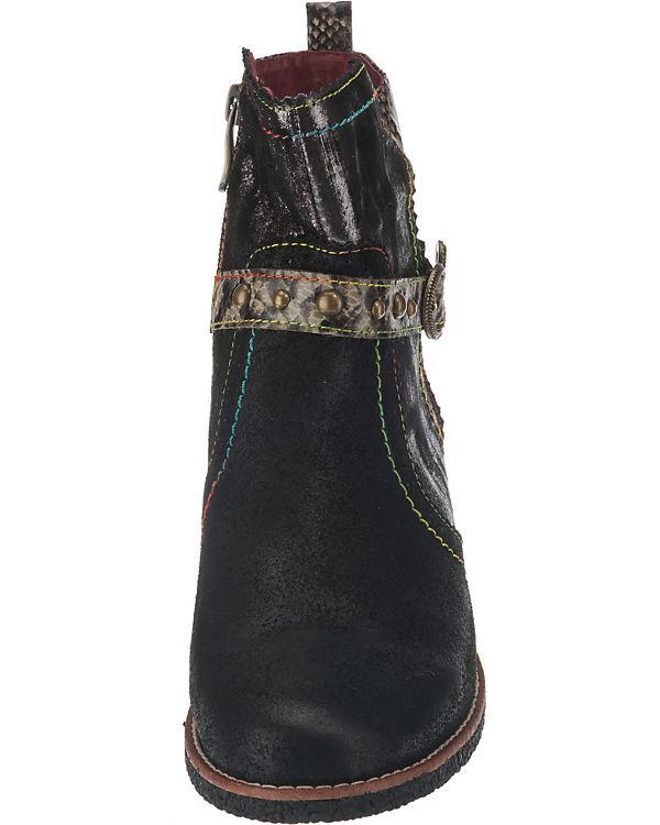 Laura Klassische Vita schwarz kombi Stiefeletten pr1p5wq