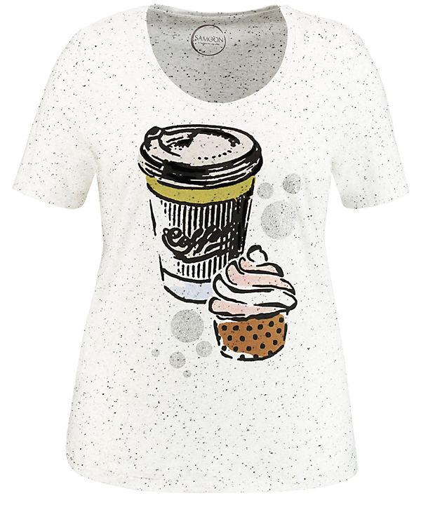 T weiß Shirt Samoon Shirt weiß T T Samoon T Shirt Samoon Samoon weiß Shirt wxFgnO