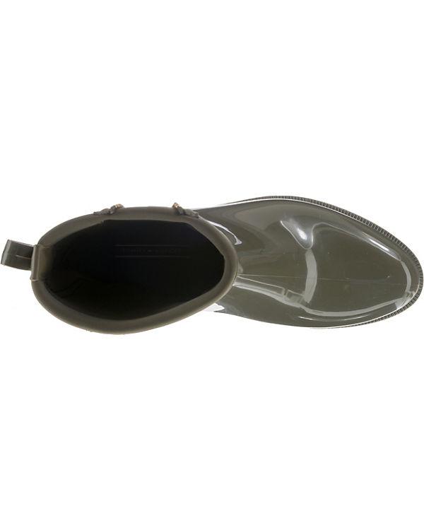 TOMMY HILFIGER, BOOT MATERIAL MIX RAIN BOOT HILFIGER, Klassische Stiefel, grün 46f2c0