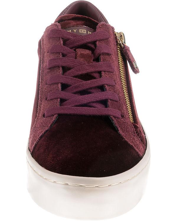 HILFIGER TOMMY DRESS braun Low VELVET Sneakers SNEAKER RRqrTd