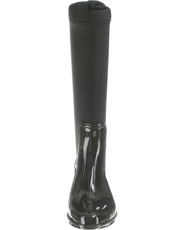 TOMMY HILFIGER, BOOT MATERIAL MIX LONG RAIN BOOT HILFIGER, Klassische Stiefel, schwarz 050795