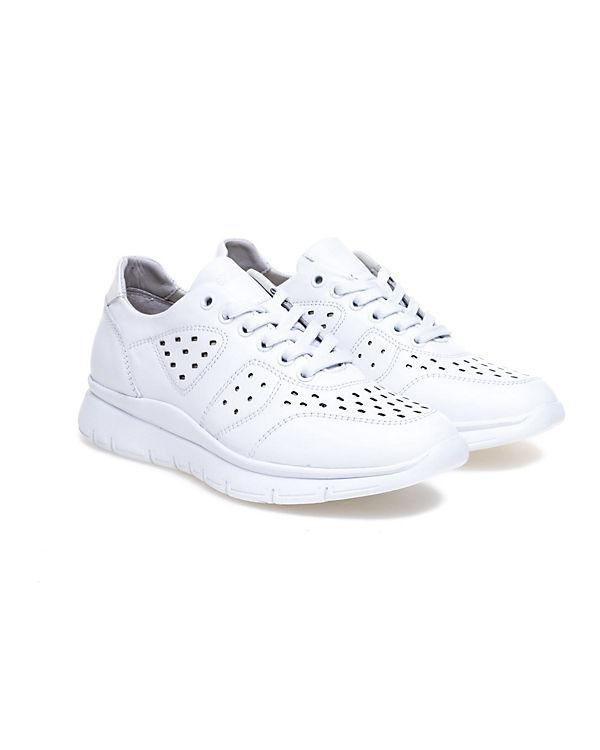 breiter Ziersteppungen Gummisohle Sneaker mit GREYDER Greyder weiß und wqt6XWT