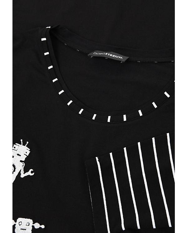 Doris schwarz Shirts Streich Shirts Streich Doris T schwarz T RHrRT