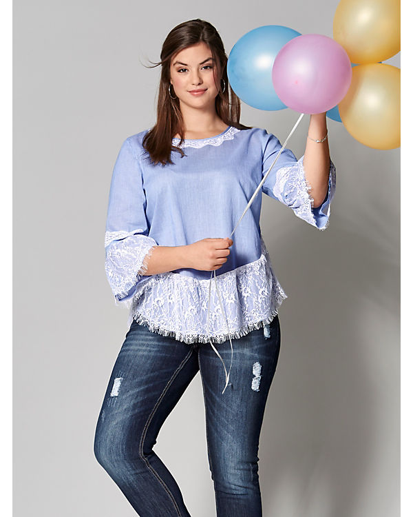 Angel 4 Arm of Style Blusen blau 3 rqU0rwf