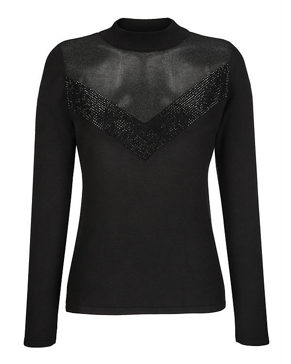 schwarz Pullover Moda Alba Alba Moda wgBHqx6