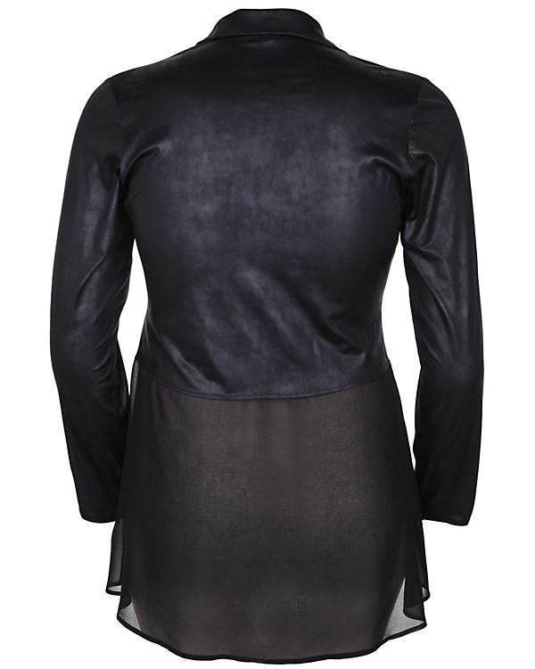 BesatzÜbergangsjacken Streich transparentem Übergangsjacke schwarz Doris mit z0Iq4wwY