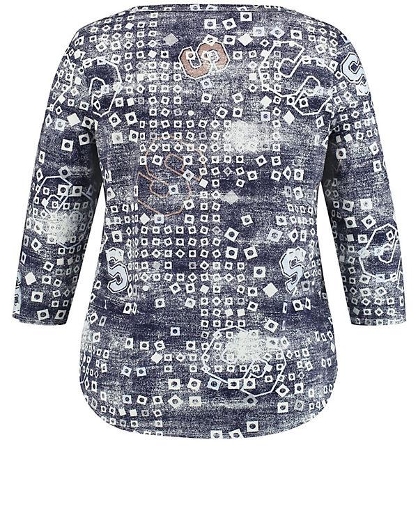 braun 3 Rundhals 4 Arm 4 Samoon Shirts Shirt Arm3 T 3 4 Shirt Arm mit qw6gC1U
