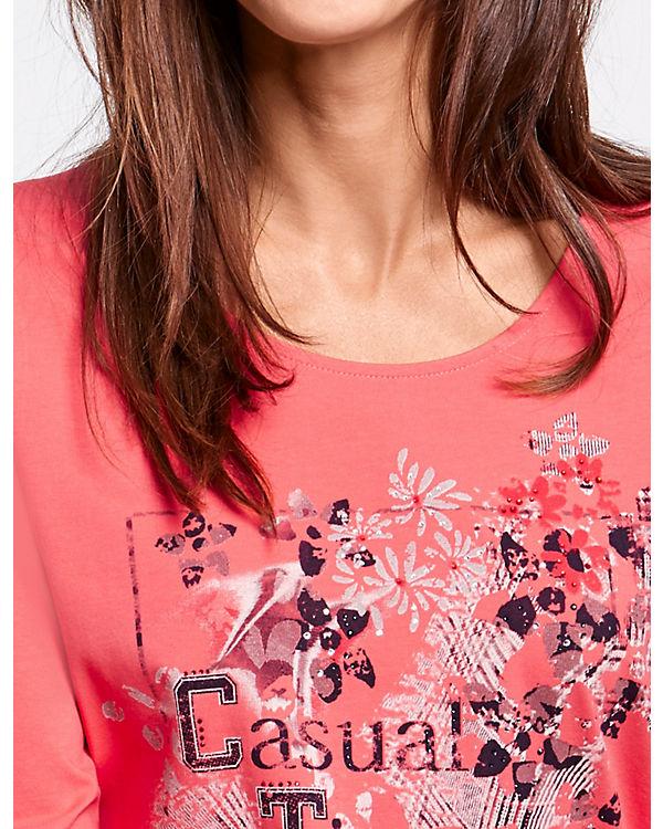 Shirt mit Shirt 3 T Gerry Arm Weber Arm 4 3 4 Arm Shirts Frontdruck3 dunkelblau 4 v4wEBEq
