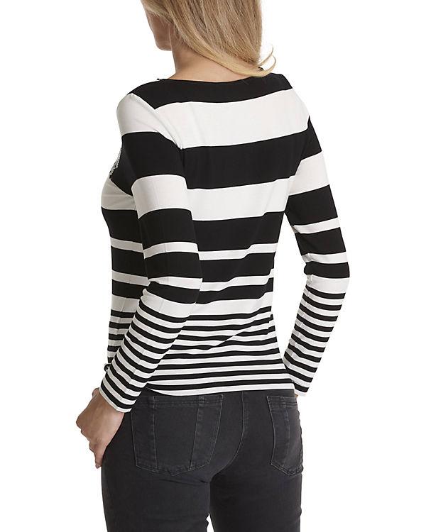 Betty schwarz Barclay Streifen Streifenshirt weiß mit gzqaUzwH