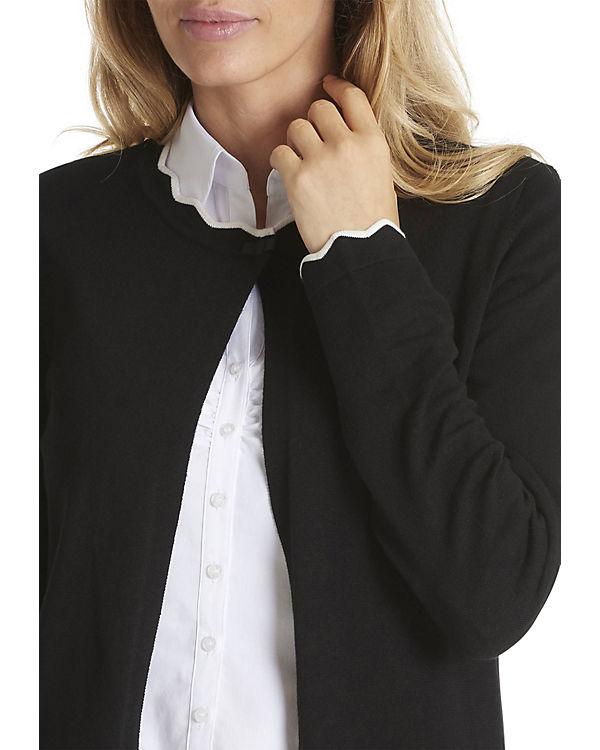 Feinstrickjacke schwarz Betty Barclay mit Schmuckkanten 1WO5nv