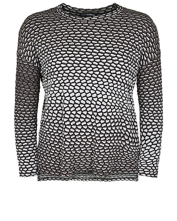 im Streich T Doris Seersucker Shirts Style Langarmshirt taupe 8EnnwqZzF