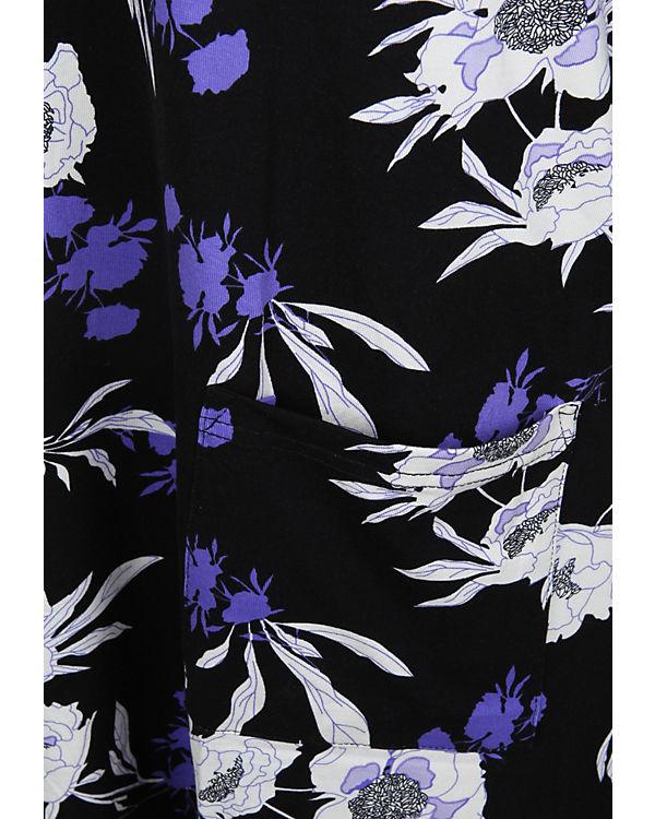 zhenzi aufgesetzten schwarz mit Tunika Taschen Langarmblusen 40r4qw