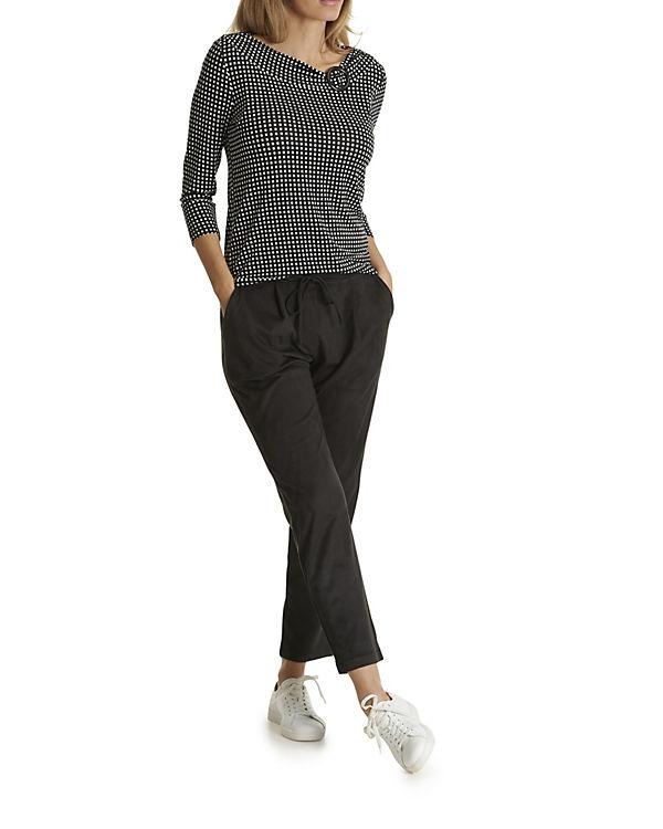 Shirt weiß Schnalle Barclay schwarz mit Casual Betty 7xEF1Cq1