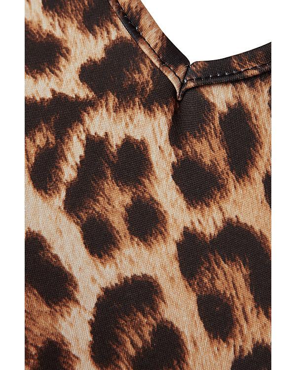 Belloya Print Plus beige Leopard Size Kleid mit xrCX6rg